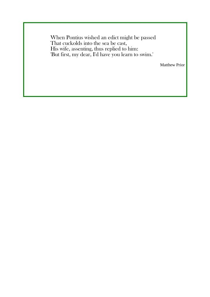 Prior poem